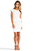 Image 2 of Central Park West Newport Peplum Short Sleeve Dress in Ivory