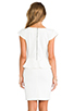 Image 4 of Central Park West Newport Peplum Short Sleeve Dress in Ivory