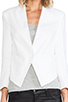 Image 5 of Central Park West Durham Linen Jacket in White