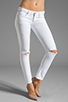 Image 1 of Citizens Of Humanity Racer Lowrise Skinny in Distressed Santorini