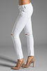 Image 2 of Citizens Of Humanity Racer Lowrise Skinny in Distressed Santorini