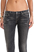 Image 4 of Citizens Of Humanity Racer Low-rise Skinny in Black Slash