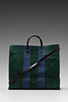 Image 1 of Clare V. Simple Tote in Forest Green/Navy