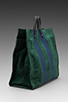 Image 3 of Clare V. Simple Tote in Forest Green/Navy
