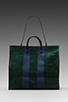 Image 5 of Clare V. Simple Tote in Forest Green/Navy