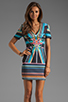 Image 1 of Clover Canyon Midnight Diner Neoprene Dress in Multi