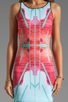 Image 5 of Clover Canyon EXCLUSIVE Lone Rider Neoprene Dress in Multi