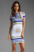 Image 1 of Clover Canyon Gandhi Scarf Neoprene Dress in Multi