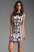 Image 1 of Clover Canyon Bollywood Neoprene Dress in Black