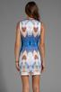 Image 4 of Clover Canyon Pegasus Neoprene Dress in Multi