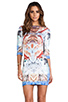 Image 1 of Clover Canyon Royal Palace Interior Neoprene Dress in Multi