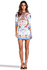 Image 2 of Clover Canyon Royal Palace Interior Neoprene Dress in Multi