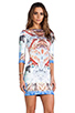 Image 3 of Clover Canyon Royal Palace Interior Neoprene Dress in Multi