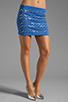 Image 1 of Clover Canyon Zig Zag Rhinestone Neoprene Skirt in Blue
