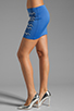 Image 2 of Clover Canyon Zig Zag Rhinestone Neoprene Skirt in Blue