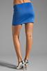 Image 3 of Clover Canyon Zig Zag Rhinestone Neoprene Skirt in Blue