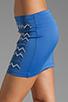 Image 5 of Clover Canyon Zig Zag Rhinestone Neoprene Skirt in Blue