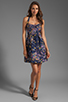 Image 2 of Cynthia Rowley Bonded Party Dress in Navy Confetti