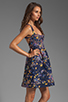 Image 3 of Cynthia Rowley Bonded Party Dress in Navy Confetti