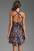 Image 4 of Cynthia Rowley Bonded Party Dress in Navy Confetti