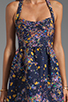 Image 5 of Cynthia Rowley Bonded Party Dress in Navy Confetti