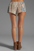 Image 3 of Chaser Vintage Tapestry Silk Drawstring Shorts in Sand Washed