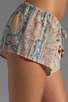 Image 5 of Chaser Vintage Tapestry Silk Drawstring Shorts in Sand Washed