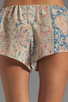 Image 6 of Chaser Vintage Tapestry Silk Drawstring Shorts in Sand Washed