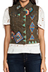 Image 5 of Chaser Patched Denim Vest in Desert Wash