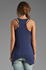 Image 2 of Chaser Deconstructed Strap Tank in Sapphire
