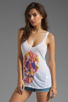Image 1 of Chaser Tropical Skull Tank in White