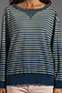 Image 3 of Current/Elliott The Stadium Sweatshirt in Indigo Stripe