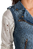 Image 6 of Current/Elliott The Sleeveless Moto in Denim Leopard Destroy
