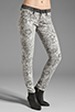 Image 1 of Current/Elliott The Ankle Skinny in Light Grey Lace