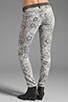 Image 3 of Current/Elliott The Ankle Skinny in Light Grey Lace