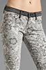 Image 4 of Current/Elliott The Ankle Skinny in Light Grey Lace