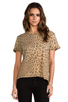 Image 1 of Current/Elliott The Freshman Tee in Camel Leopard