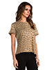 Image 2 of Current/Elliott The Freshman Tee in Camel Leopard