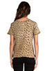 Image 3 of Current/Elliott The Freshman Tee in Camel Leopard