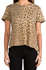 Image 4 of Current/Elliott The Freshman Tee in Camel Leopard