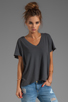 Image 1 of Current/Elliott The V Neck Tee in Dove Tail