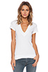 Image 1 of Daftbird Contrast Deep V Tee in White