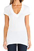 Image 4 of Daftbird Contrast Deep V Tee in White