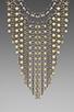 Image 2 of DANNIJO Glynn Necklace in Ox Silver/Bone