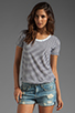 Image 1 of DemyLee Semi Sailor Stripe Top in White/Navy