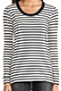 Image 4 of DemyLee Stripe Parker Long Sleeve in Natural/Navy