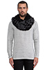 Image 1 of DE NADA Woven Infinity Scarf in Black/Charcoal