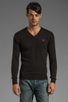 Image 1 of Diesel Meceneo V Neck Sweater in Black