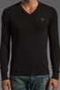 Image 4 of Diesel Meceneo V Neck Sweater in Black