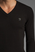 Image 5 of Diesel Meceneo V Neck Sweater in Black